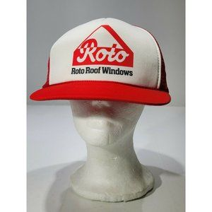 Vintage Roto Roof Windows Red White Mesh Snapback